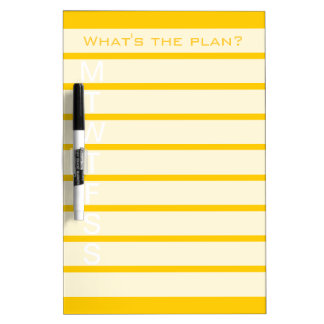Weekly calendar dry erase board | Yellow