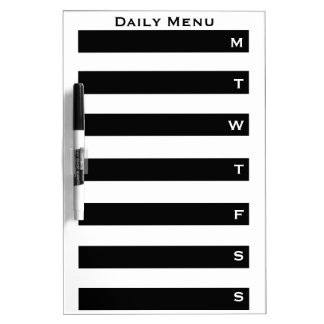 Weekly Day Planner Calendar List to Do Dry-Erase Whiteboard