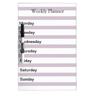 Weekly Day Planner List Dry Erase Board