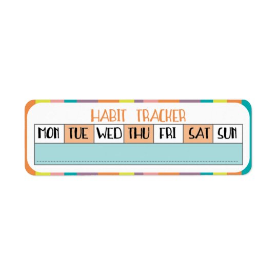 Weekly Habit Tracker - Candy shop
