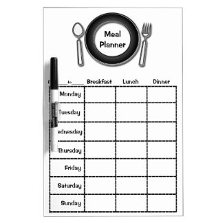 Weekly Meal Planner Dry Erase Board