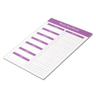 Weekly Meal Planner - Purple Notepad