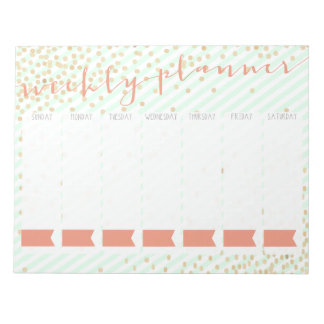 Weekly Planner Notepad