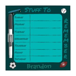 Weekly Reminder (change name) Dry Erase Whiteboards