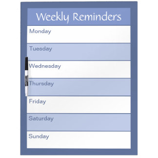 Weekly Reminders - Simply Organized - Nautical Dry-Erase Board