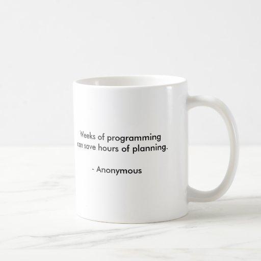 Weeks of programming mug
