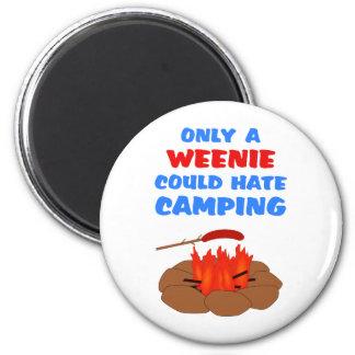 Weenies Hate Camping Magnet