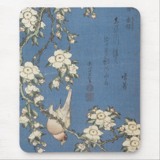 Weeping Cherry and Bullfinch, Hokusai, 1834 Mousep Mouse Pad