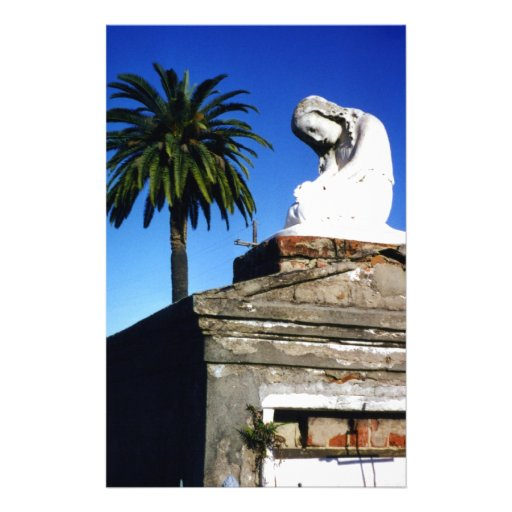 Weeping child / Angel- New Orleans Cemetery Stationery Paper