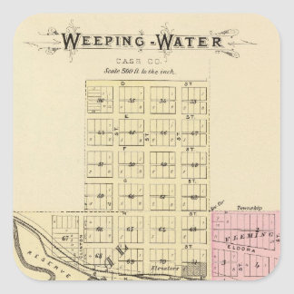 Weeping Water, Nebraska Square Sticker