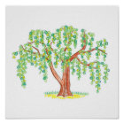Weeping Willow Art Poster