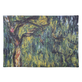 Weeping Willow by Claude Monet, Vintage Fine Art Place Mats