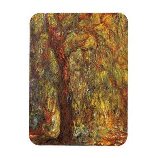 Weeping Willow by Claude Monet, Vintage Fine Art Rectangular Photo Magnet
