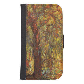 Weeping Willow by Claude Monet, Vintage Fine Art Samsung S4 Wallet Case