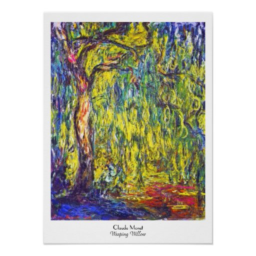 Weeping Willow Claude Monet Poster