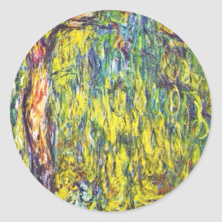 Weeping Willow Claude Monet Stickers