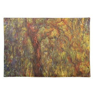 Weeping Willow Claude Monet Vintage Impressionism Placemat