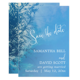 Weeping Willow Ethereal Dreamy Sky Save the Date Card