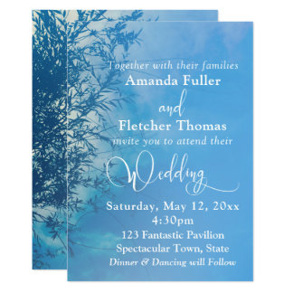 Weeping Willow Ethereal Dreamy Sky Wedding Card