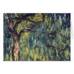 Weeping Willow II by Monet, Vintage Impressionism Greeting Card