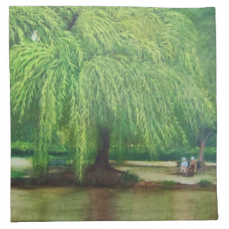 weeping willow tree cloth napkin