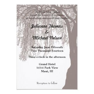 Weeping Willow Tree Wedding Card