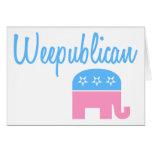 Weepublican (Blue) Greeting Card
