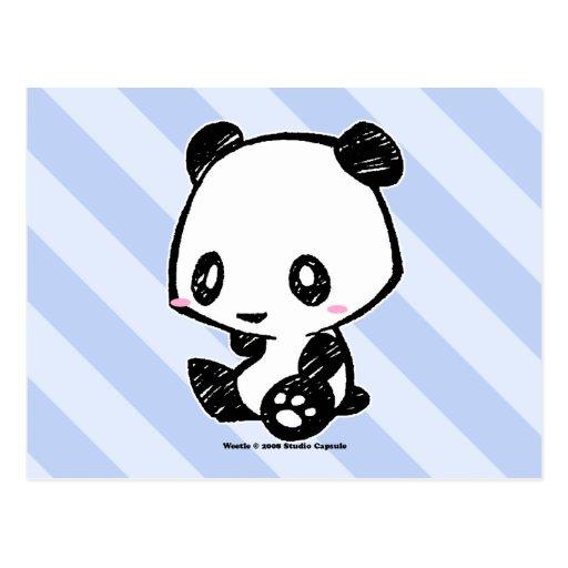 Weetle Panda Postcards