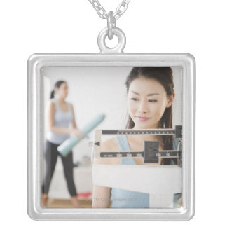 Weigh-In Silver Plated Necklace