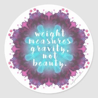 Weight Doesn't Measure Beauty Scale/Mirror Sticker