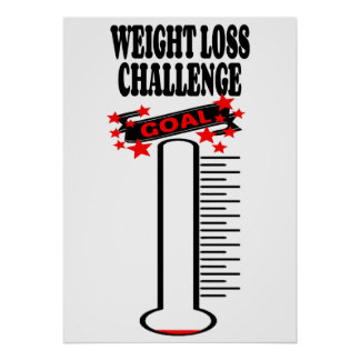Weight Goal Thermometer BLANK Poster