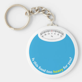 Weight & Health Conscious Basic Round Button Key Ring