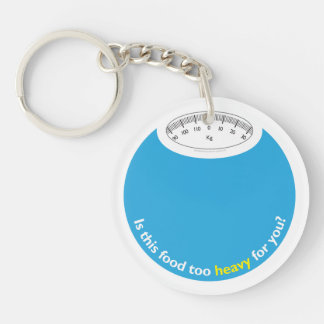Weight Health Conscious Round Acrylic Key Chain