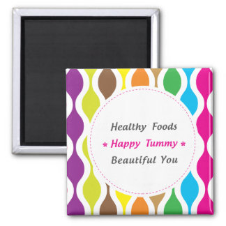 Weight & Health Conscious Square Magnet