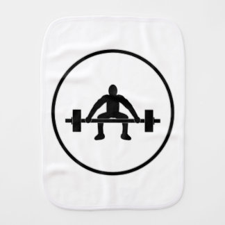 Weight Lift Sign Burp Cloth