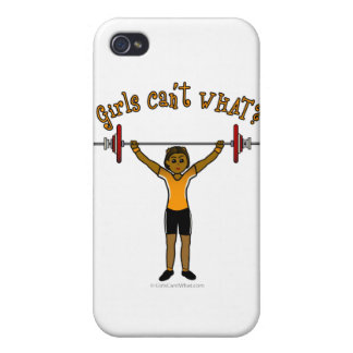 Weight Lifter (Dark) iPhone 4/4S Covers