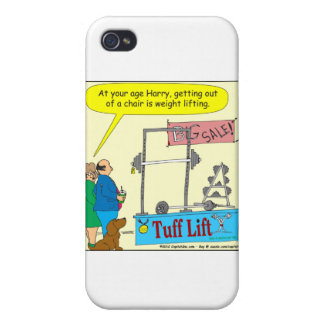 weight lifting and getting older color cartoon iPhone 4 cover