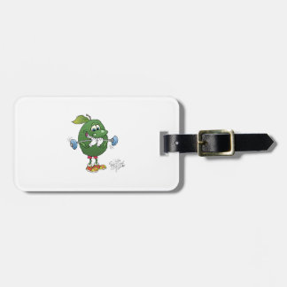 Weight lifting Avocado Luggage Tag