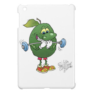 Weight lifting Avocado, on a Iphone cover. iPad Mini Cases