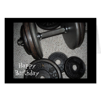 Weight Lifting Birthday Design Note Card