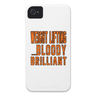 Weight Lifting Bloody Brilliant Case-Mate iPhone 4 Case