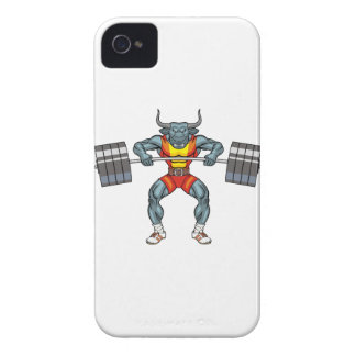 weight lifting bull 3 iPhone 4 Case-Mate case