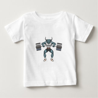 weight lifting bull baby T-Shirt