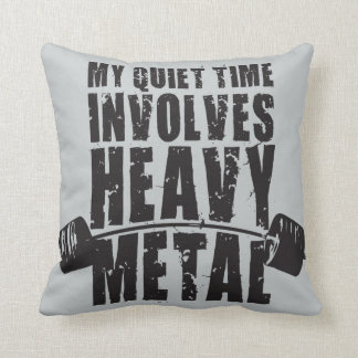 """""""Weight lifting"""" Motivation - Heavy Metal Throw Cushion"""