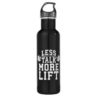 Weight Lifting Motivation - Less Talk More Lift 710 Ml Water Bottle
