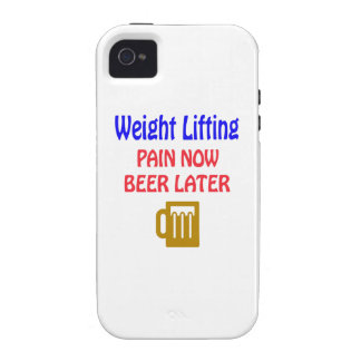 Weight Lifting pain now beer later Case-Mate iPhone 4 Case