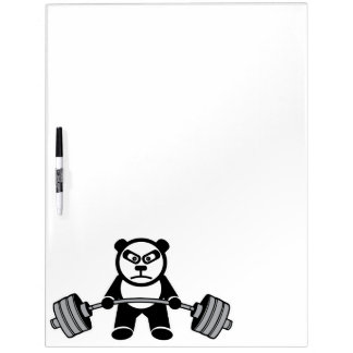 Weight Lifting Panda Bear Anime Cartoon - Workout Dry Erase Board