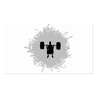 Weight Lifting Scribble Style Pack Of Standard Business Cards