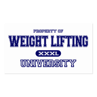 Weight Lifting University Pack Of Standard Business Cards