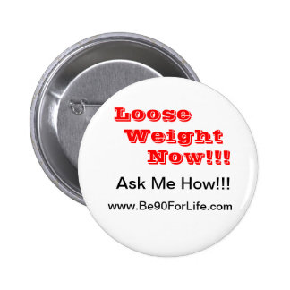 Weight Lose Water 6 Cm Round Badge